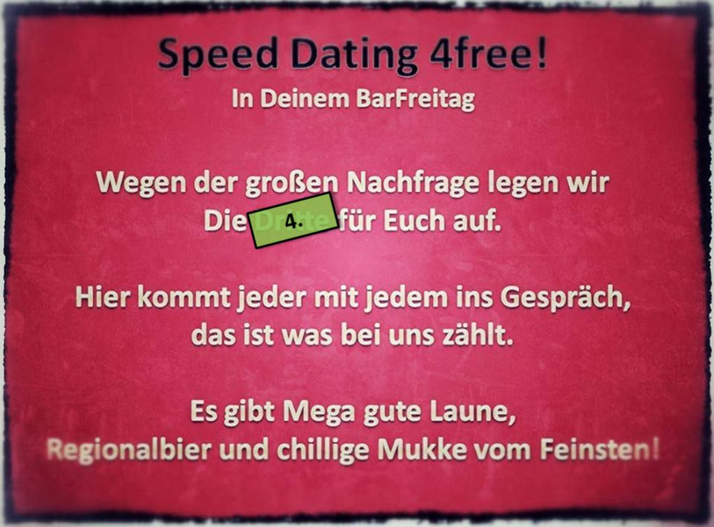 SpeedDating die Vierte
